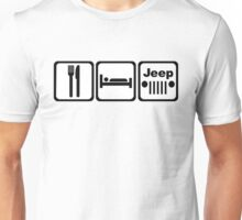 EAT SLEEP JEEP Version 2 Unisex T-Shirt