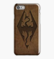 Skyrim Worn Leather Emboss iPhone Case/Skin