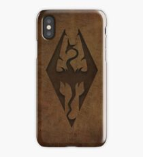 Skyrim Worn Leather Emboss iPhone Case/Skin