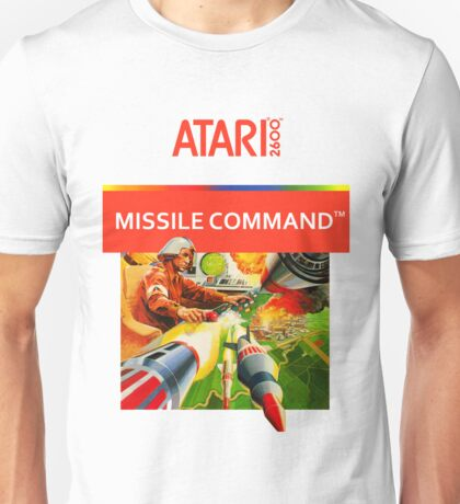 Atari 2600 Missile Command Box 80s Graphic T-shirt