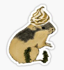 Arctic Lemming Meringue Sticker