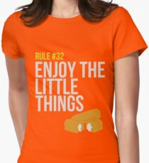 Zombie Survival Guide - Rule #32 - Enjoy the Little Things Womens Fitted T-Shirt
