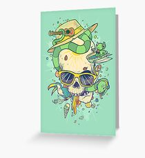 Summer skullin' Greeting Card