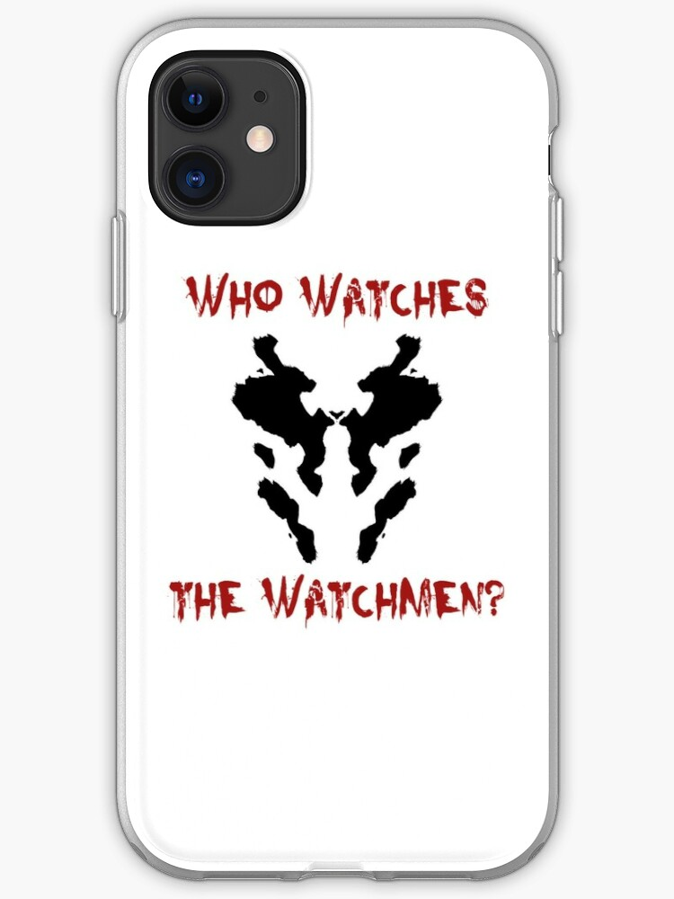 Who Watches The Watchmen And Smile iphone case
