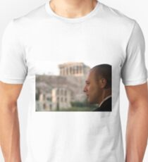 Security officer with the acropopolis of athens in the background Unisex T-Shirt