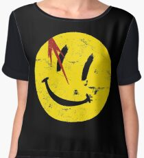 Watchmen Symbol Smile Vintage Women's Chiffon Top