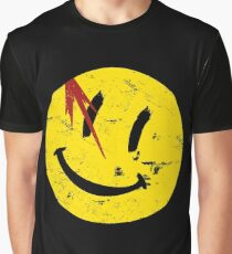 Watchmen Symbol Smile Vintage Graphic T-Shirt