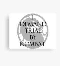 Trial by Kombat Canvas Print