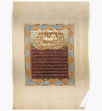 Decorated Text Page - Vere Dignum Monogram (1025 - 1050 AD) Poster