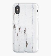 shabby chic planked wood iPhone Case/Skin