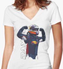 Daniel Ricciardo Women's Fitted V-Neck T-Shirt