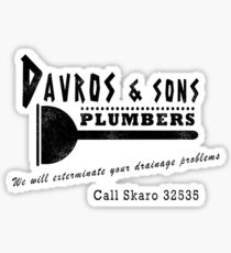 Davros and sons, plumbers... (aged) Sticker