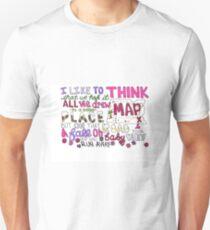 Maps by Maroon 5 Lyric Art T-Shirt