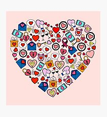 Love heart doodle Photographic Print