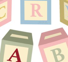 Letter Blocks Sticker