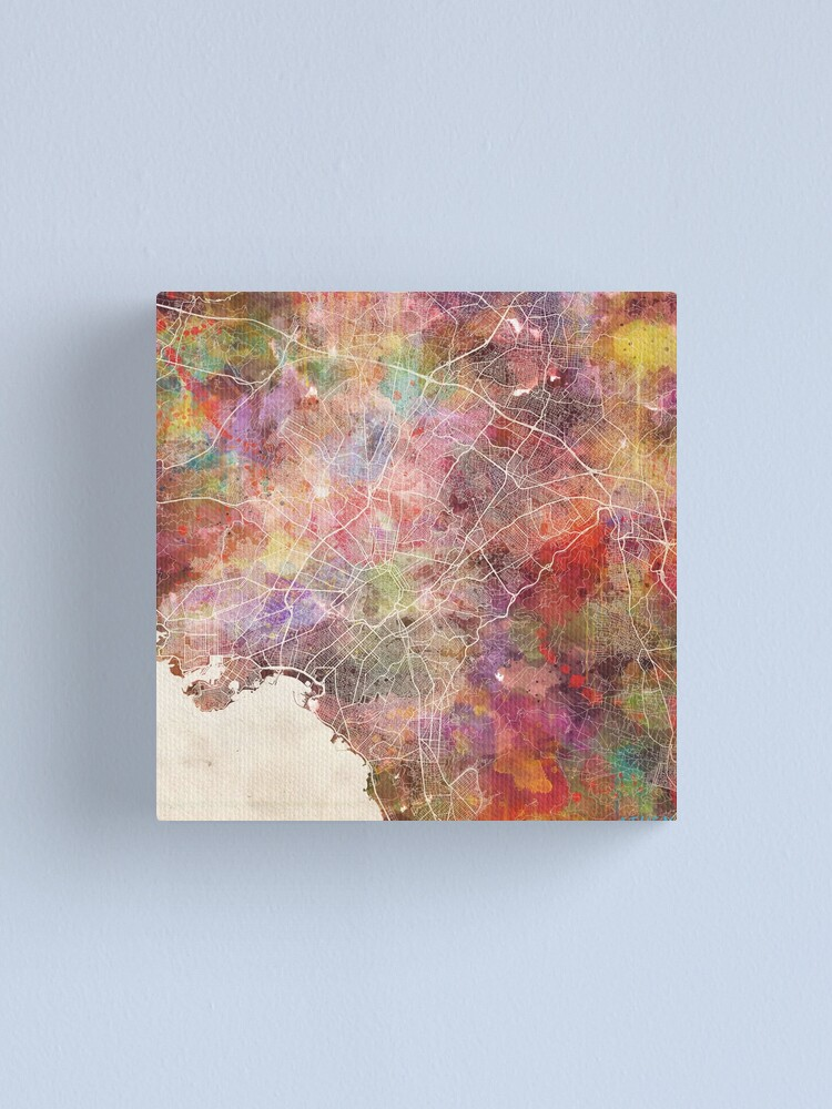 Alternate view of Athens map Canvas Print