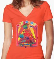 TOYSAURUS Women's Fitted V-Neck T-Shirt