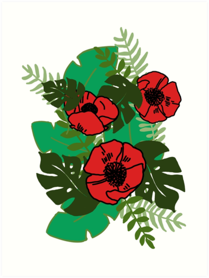 Poppy flowers and leaves art prints by simonsdesign redbubble poppy flowers and leaves by simonsdesign mightylinksfo