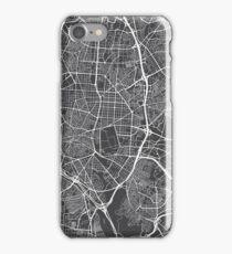 Madrid Map, Spain - Gray iPhone Case/Skin