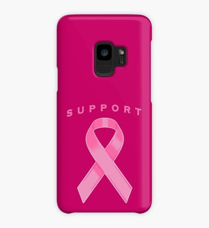 Pink Awareness Ribbon of Support Case/Skin for Samsung Galaxy