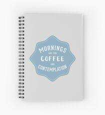 Stranger Things: Mornings are for Coffee and Contemplation Spiral Notebook