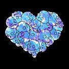 Skull Heart- Purple by GummiZombie