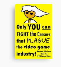 The Gaming Industry Needs Our Help - Gamer Master Funny Geek Meme Canvas Print