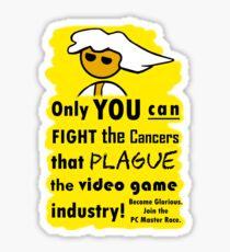 The Gaming Industry Needs Our Help - Gamer Master Funny Geek Meme Sticker