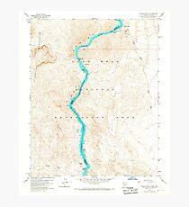 USGS TOPO Map Arizona AZ Willow Beach 314127 1959 24000 Photographic Print