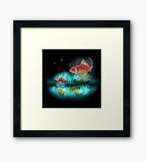 Goldfish Bubbles Framed Print