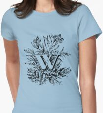 Plant Alphabet Letter W Womens Fitted T-Shirt