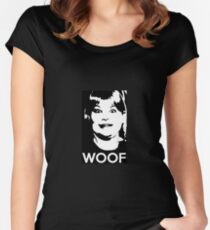 Buzz Your Girlfriend - WOOF! Women's Fitted Scoop T-Shirt