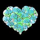 Skull Heart - Green by GummiZombie