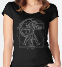 Vitruvian Hunters ( Negative) Women's Fitted Scoop T-Shirt