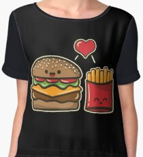 Burger and Fries Chiffon Top