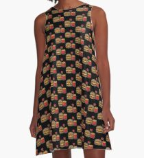 Burger and Fries A-Line Dress