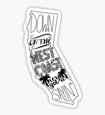 Down On The West Coast... Sticker