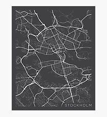 Stockholm Karte, Schweden - Grau Fotodruck