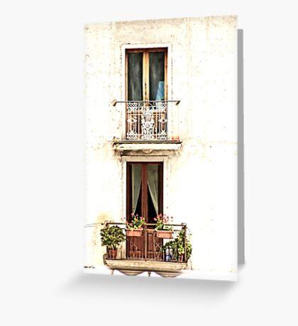 Windows of Maratea Greeting Card