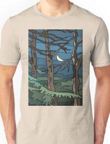 Abstract Tree Branch Night Scene Unisex T-Shirt