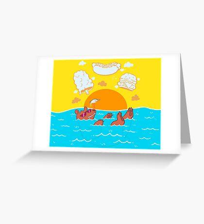Summer Soak Greeting Card