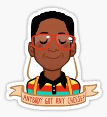 Urkel Cheese Sticker