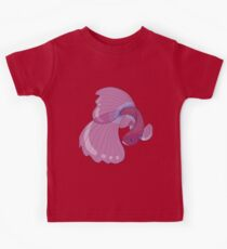 Purple, Gold and Blue Betta Fighting Fish  Kids Clothes