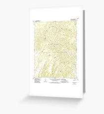 USGS TOPO Map Arizona AZ Willow Mtn 314129 1967 24000 Greeting Card