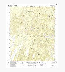 USGS TOPO Map Arizona AZ Willow Mtn 314129 1967 24000 Photographic Print