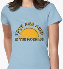 Community - Troy and Abed in the morning Women's Fitted T-Shirt