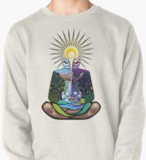 Psychedelic meditating Nature-man Pullover Sweatshirt