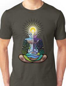 Psychedelic meditating Nature-man Unisex T-Shirt