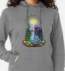 Psychedelic meditating Nature-man Lightweight Hoodie