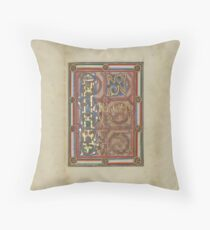 Decorated Incipit Page - Opening of Saint John's Gospel (1120 - 1140 AD) Throw Pillow